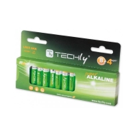 Techly Alkaline batteries 1.5V AAA