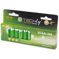 Techly Alkaline batteries 1.5V AA