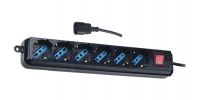 Techly UPS power strip with 6