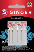Singer Embroidery Needle 80/12 5PK