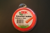 Trimmer aukla 3.0mm*15m trīsturis