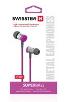 Swissten SuperBass Earbuds Metal