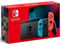 Nintendo Switch with Neon Red and