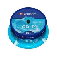 CD-R 80min/700Mb 52x (cake)25 AZO