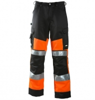 Dimex Hi.vis. trousers  6020 orange/black